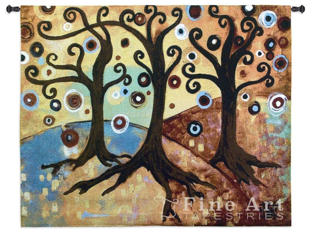 Fantasy Trees Art Tapestry Wall Hanging