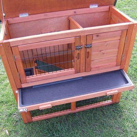 Double decker with run rabbit hutch hutches guinea pig for How to clean guinea pig cages