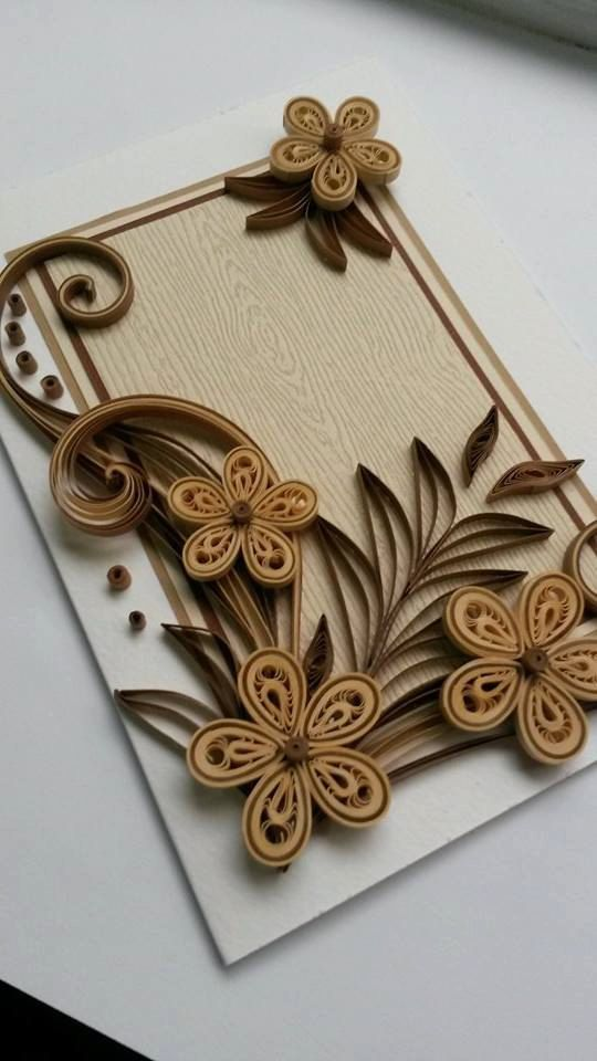 Beautiful handmade quilled card with quilling flowers perfect greeting for various occasions like birthday fathers day congratulations or  also pin by carrie hemming on ideas cards rh in pinterest