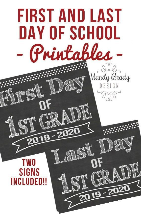 photograph about First Day of 1st Grade Printable named Initially Working day of Initially Quality Printable Indicators Remaining Working day of Very first