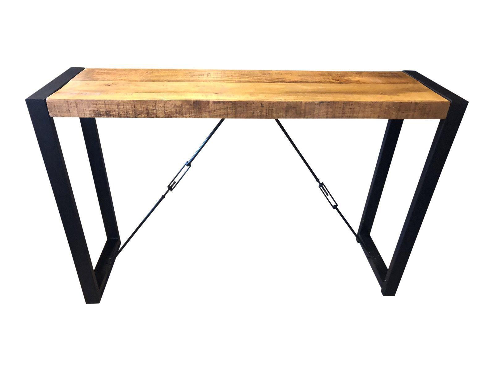 Side Table Metaal.Deze Side Table Wandtafel Is Gemaakt Van Mangohout
