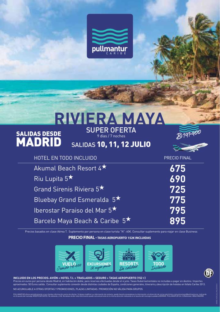 Super Oferta Riviera Maya Salidas 10,11 y 12 de Julio - http://zocotours.com/super-oferta-riviera-maya-salidas-1011-y-12-de-julio/