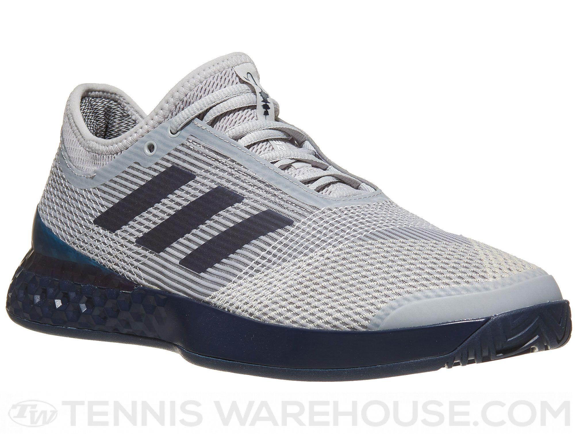 cheap for discount 2d09c 65a6d adidas adizero Ubersonic 3 Grey/Navy Men's Shoe | Tennis ...