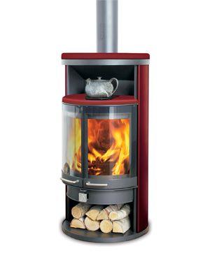Dan Skan Rondo N Half Round Wood Burning Stove | Wood Burning ...