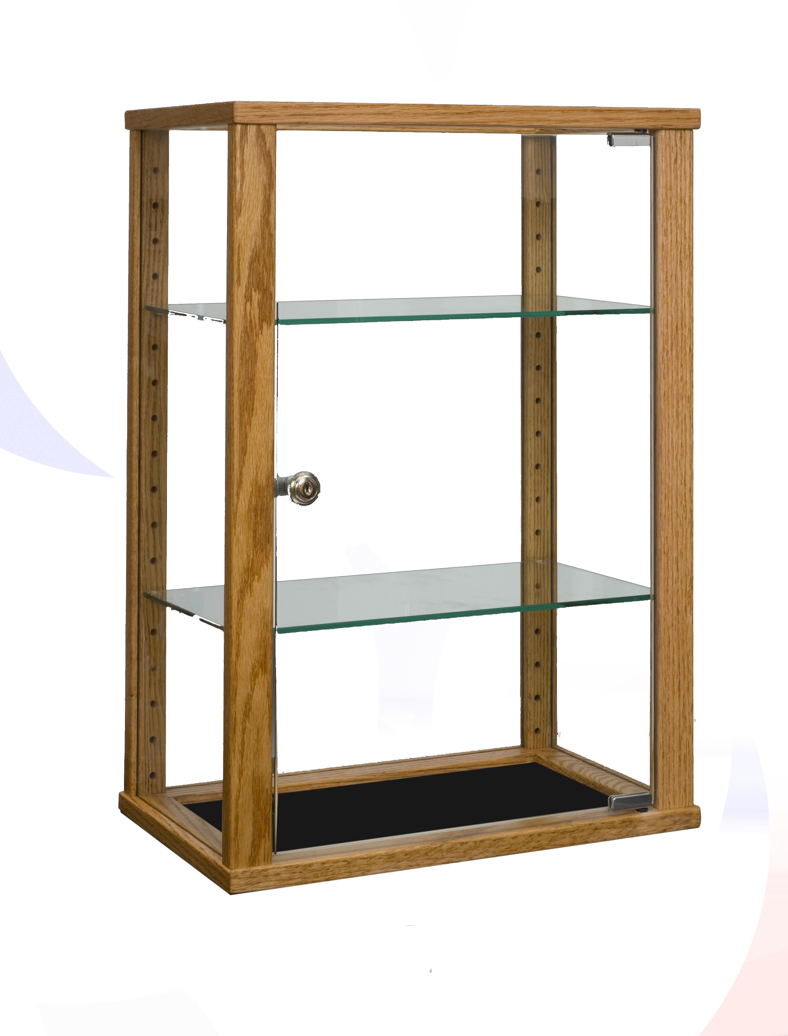 Contemporary Rectangle Counter Top Display Case With Glass Top