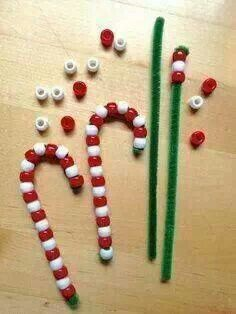 candy cane ornaments heres an easy craft to do with children create pipe cleaner candy canes to hang on your christmas tree fun for kids to make and give - Homemade Christmas Decorations For Kids