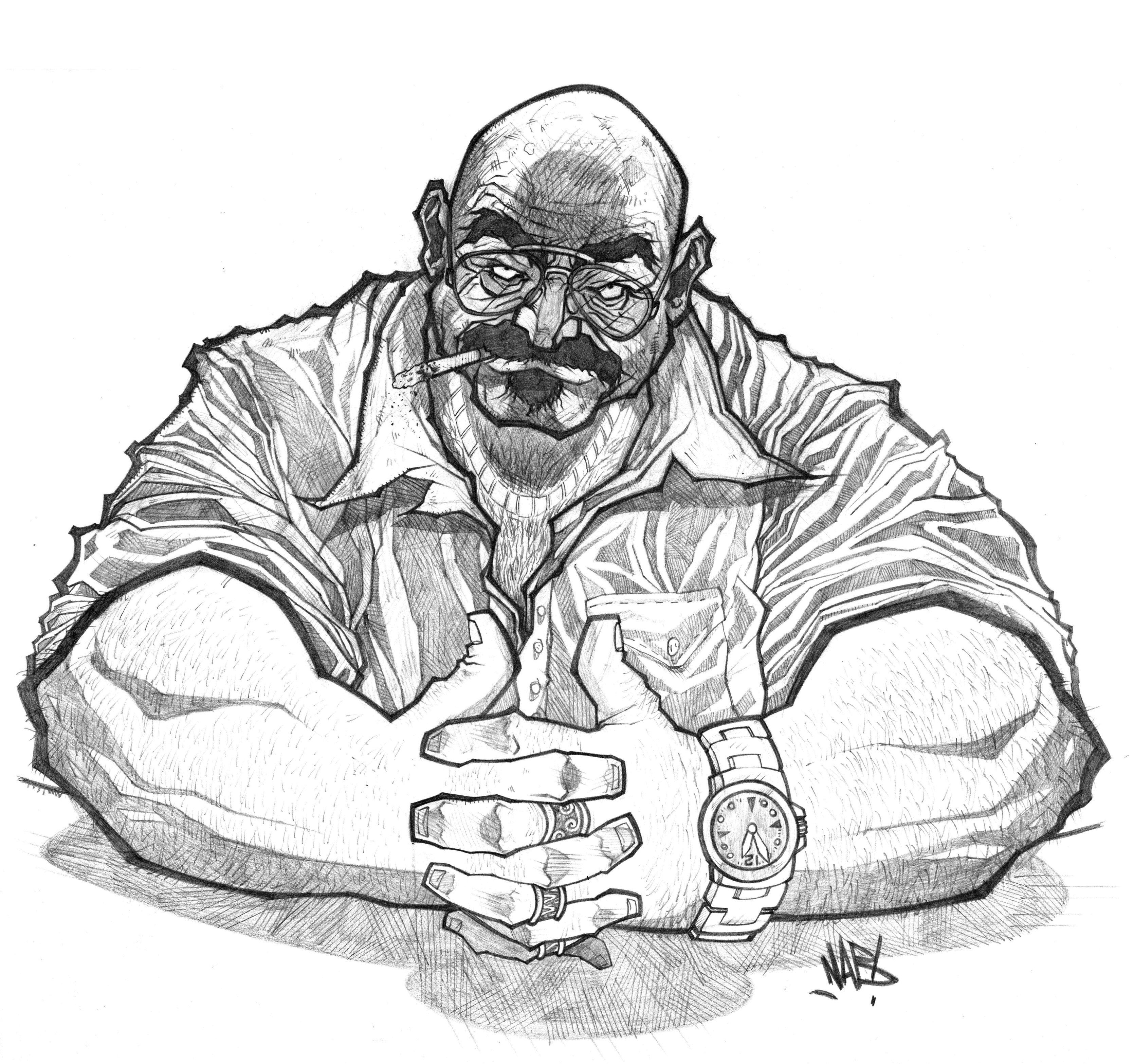 Mafia Big Boss My Drawings Character Design Inspiration Sketches