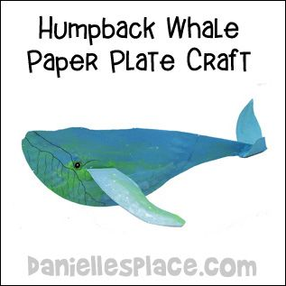 Humpback Whale Paper Plate Craft for Kids  sc 1 st  Pinterest & Humpback Whale Paper Plate Craft for Kids | Ocean animals ...