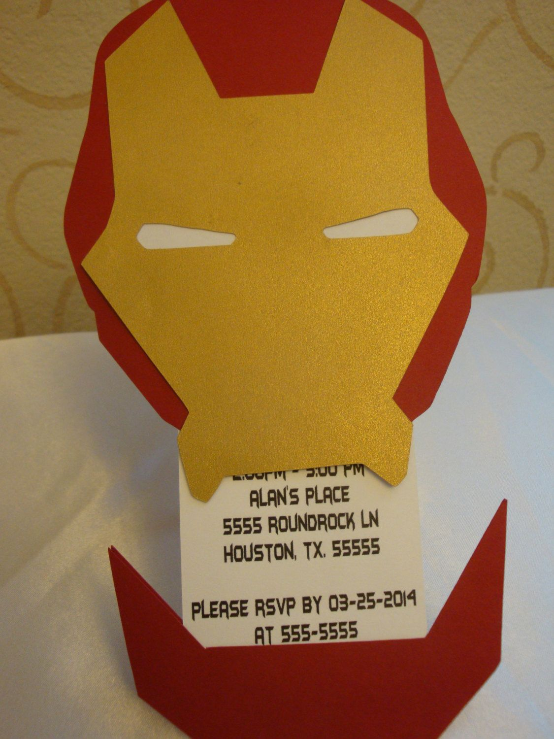 Iron man party invitations set of 8 Birthday party by HappyToons ...