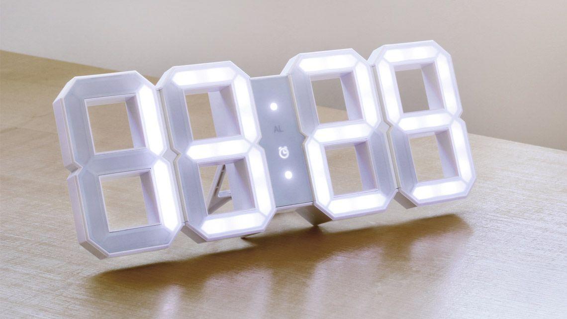 Modern Minimalistic Digital Wall White Led Clock White White