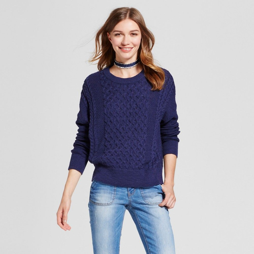 Women's Pullover Sweater - Mossimo Supply Co. Navy (Blue) XS ...