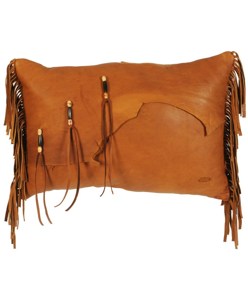 Deerskin Pillow with Beads and Fringe | Western Decor | Rustic ...