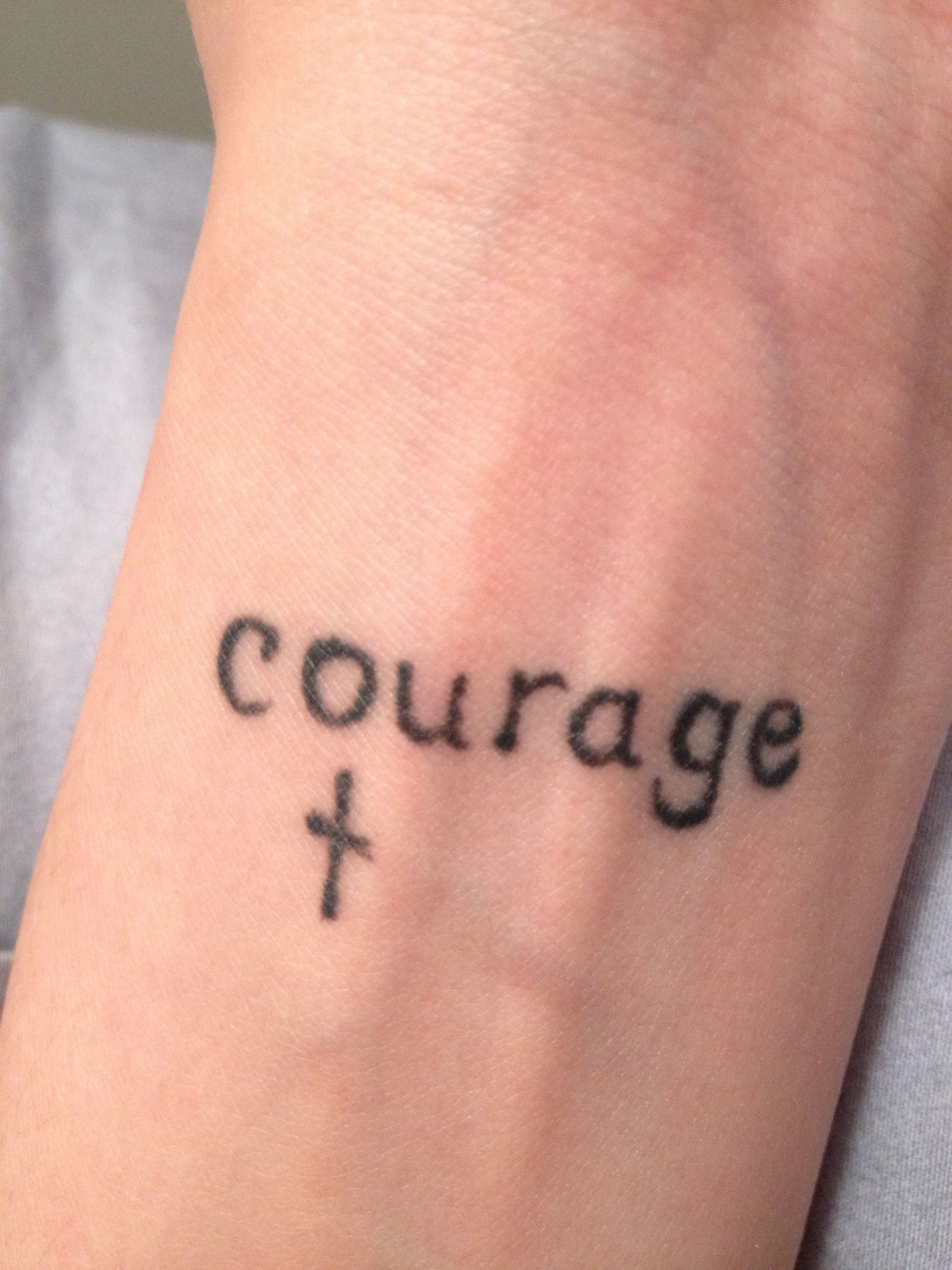 Courage tattoo in my mothers handwriting | Love ...