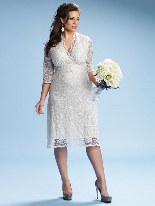 Renewing vows dresses plus size