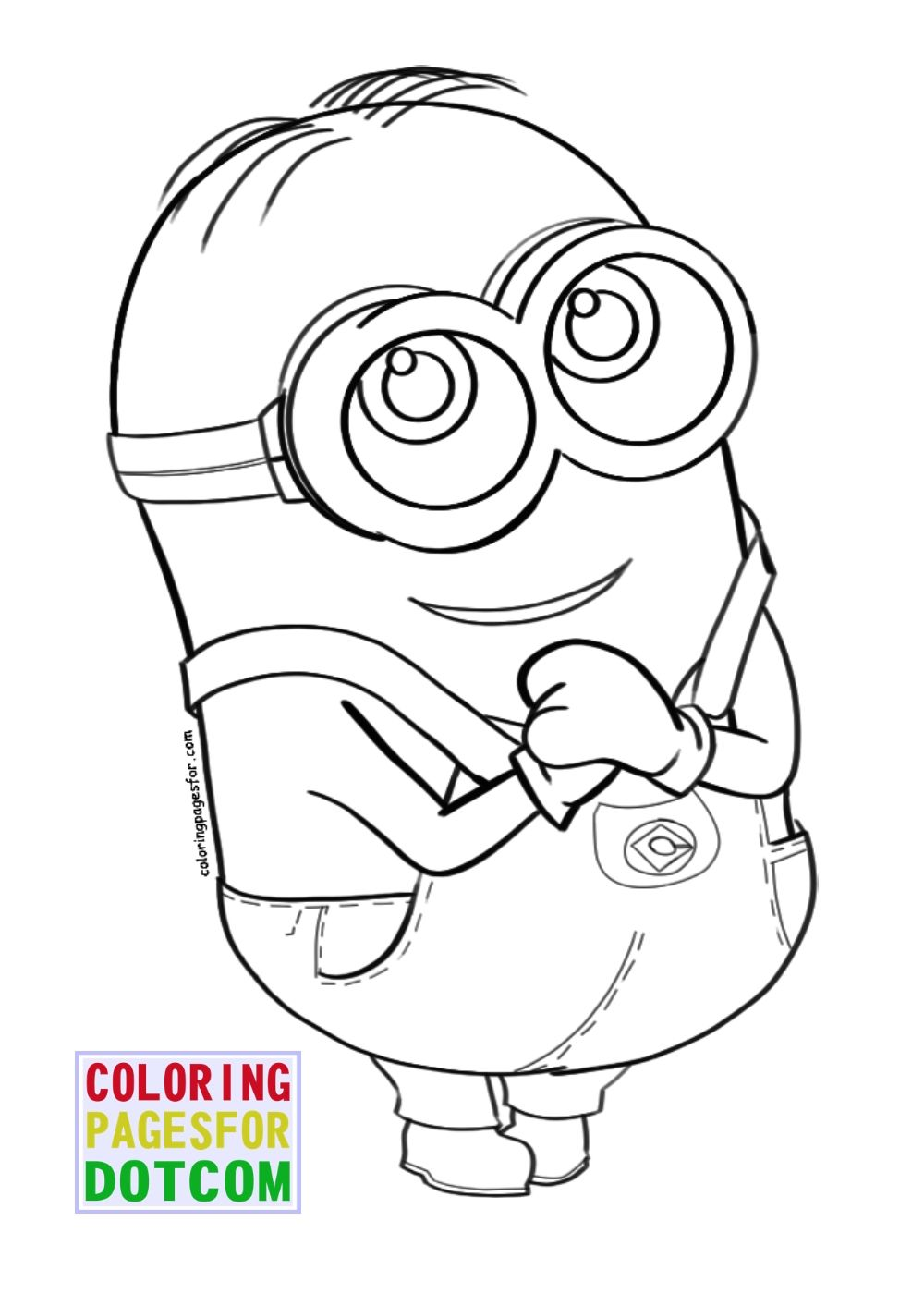 photograph about Minions Printable Coloring Pages called cost-free printable minion coloring webpages 06 minions Minion