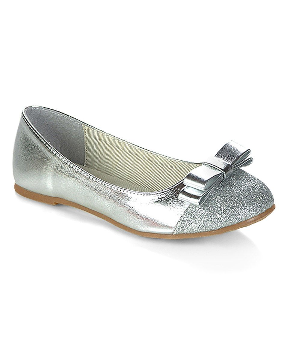 Love this Jelly Beans Silver Posa Ballet Flat by Jelly Beans on #zulily! #zulilyfinds