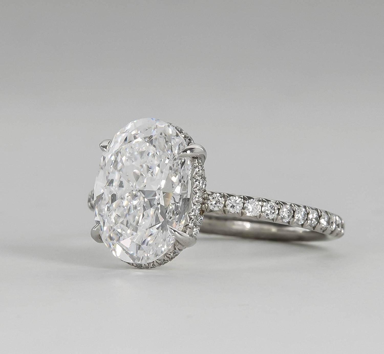 Fabulous GIA 3 Carat D Color Oval Diamond Platinum