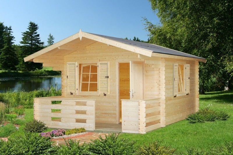 Details zu Gartenhaus 34 Sylvi 10,4+4,2 m² 3,3x4,8 m Gerätehaus