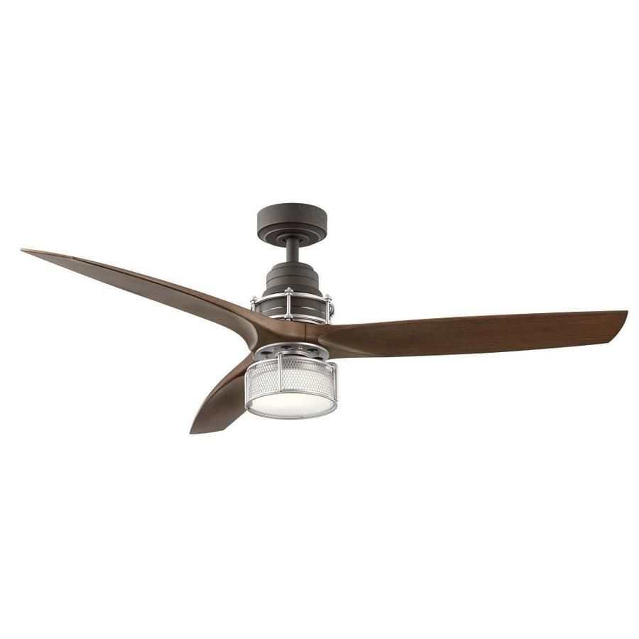 Kichler 54 In Satin Natural Bronze With Brushed Nickel Accents