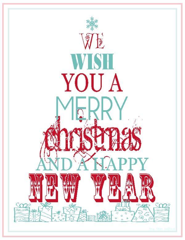 Kostenlos zum Ausdrucken: Frohe Weihnachten und ein gutes neues Jahr   – Celebrate.