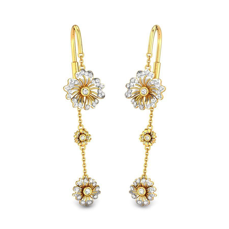 d1eddd669 WILD ROSE SUI DHAGA | Küpeler in 2019 | Earrings, Diamond earrings ...
