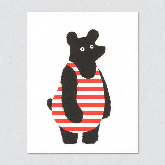 """Bathing Bear"" by Lisa Jones"