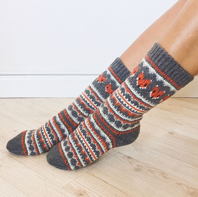 Ravelry: Fox Isle Socks pattern by Life Is Cozy | Knitting: Socks ...