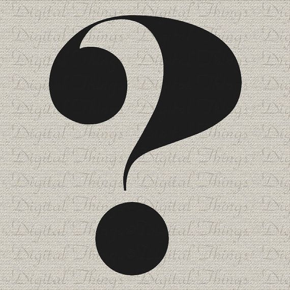 Typography Print Question Mark Script Printable By