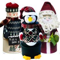 Santa, Snowman or Penguin Christmas Holiday Gift Towers