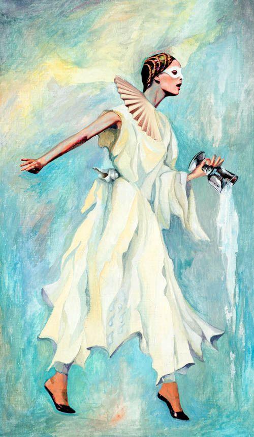 Nino Japaridze - Queen of Tides (Reine des Marées) - Japaridze Tarot - 2012-2013 mixed media painting