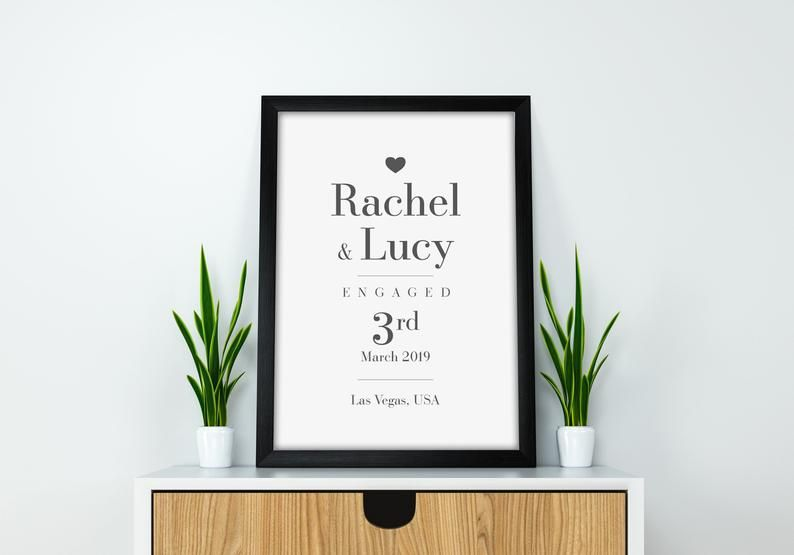 Personalised The Day We Got Together Print A5 A4 Prints /& Framed