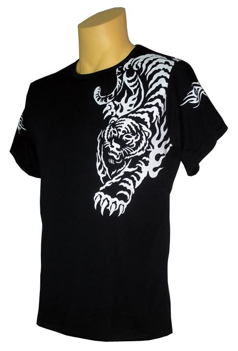 1dd44447 Tiger Tattoo Black T-shirt | Tiger T-Shirt Thirst | Tiger tattoo ...