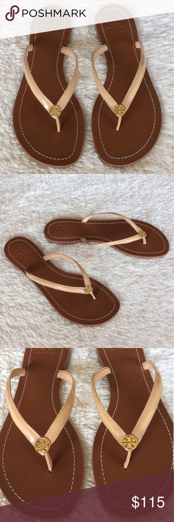 b40f8638f2ad NEW TORY BURCH TERRA THONG SANDALS Authentic. New never used. These sandals  have dust bag
