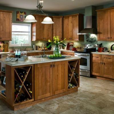 Amazing Home Decorators Collection 13x13 In. Hargrove Cabinet Door Sample In  Cinnamon