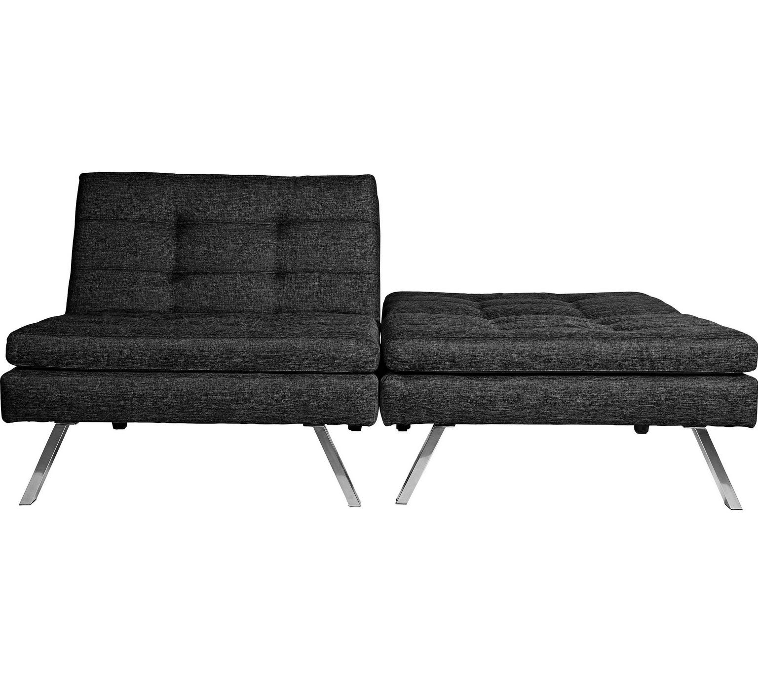 Hygena Duo 2 Seater Clic Clac Sofa Bed Charcoal At Argos Co