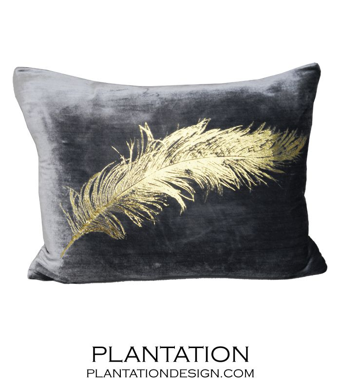 PLANTATION | Reiki Velvet Pillow | Feather