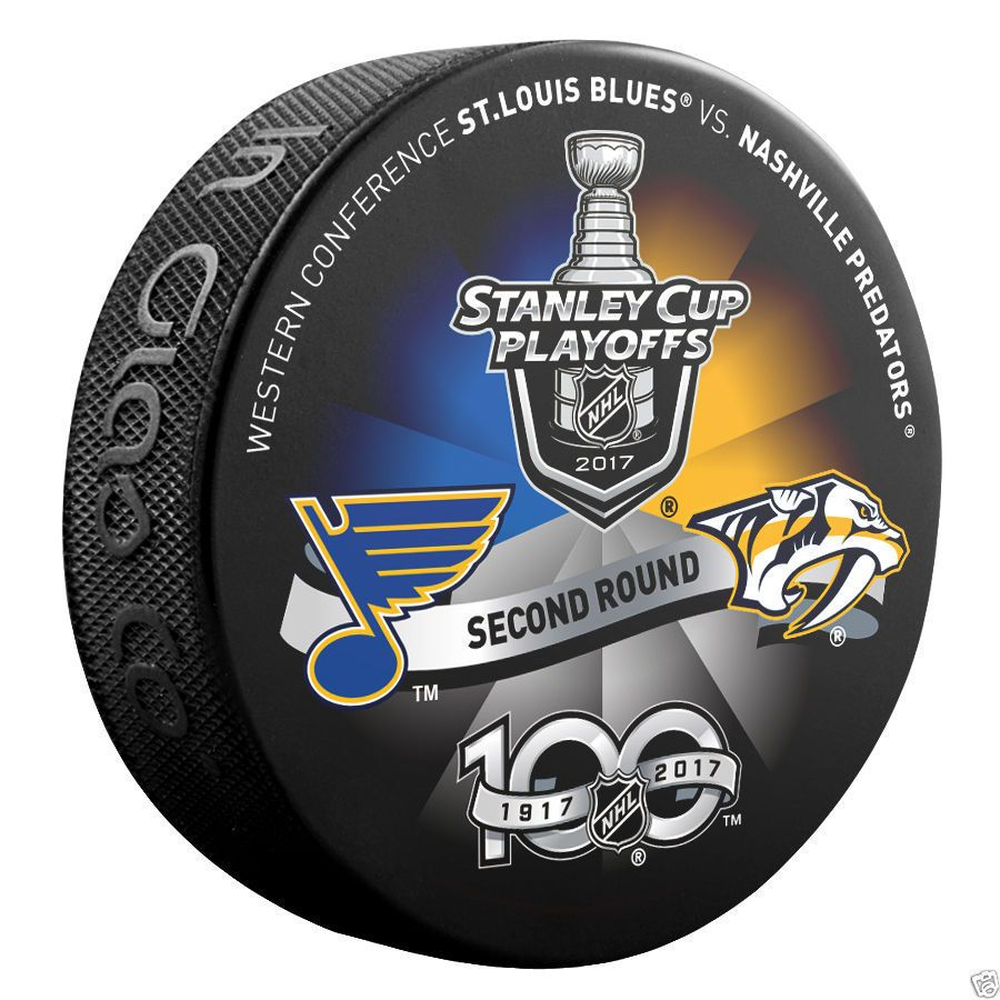 2017 NHL St Louis Blues V Nashville Predators Stanley Cup Playoffs Dueling Puck