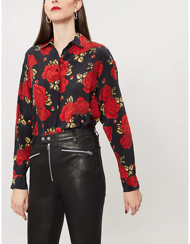 ad45a567725 The Kooples Floral-print silk-crepe shirt   Stage clothes in 2019 ...