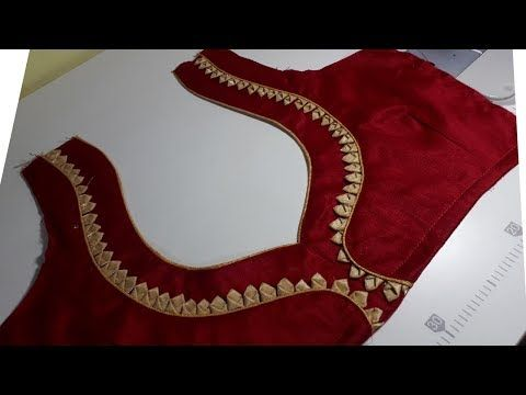 6daad6ac13b83 Easy And Beautiful Blouse Back Neck Design Cutting And Stitching - YouTube