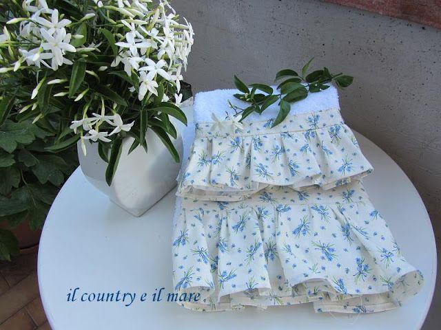 Applique bagno ~ Il country e il mare set romantico e provenzale per bagno