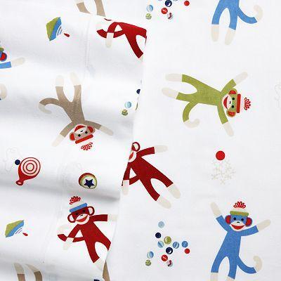 Home Classics Monkey Flannel Sheet Set I Need These Boys Bedding Sheet Sets