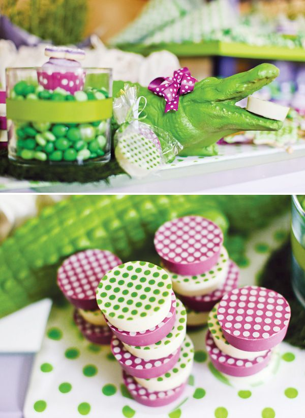 decoration anniversaire crocodile