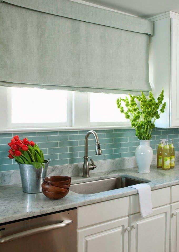 liz carroll interiors beach house kitchens backsplash for white cabinets blue glass tile on kitchen interior tiles id=83568