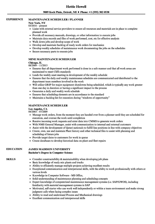 Aircraft Maintenance Scheduler Job Description Di 2020