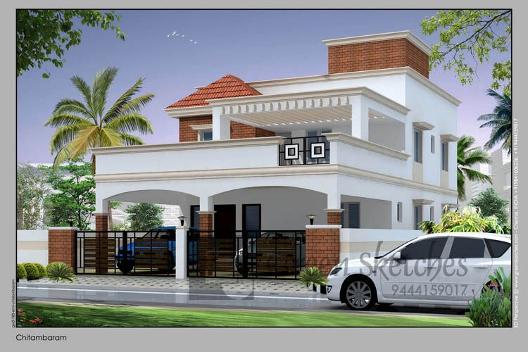 Bungalow At Chidambaram Tamilnadu House Styles House Design House Elevation