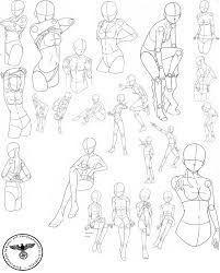 Manga zeichnen lernen - Körper & Posen in 2020 | Manga ...