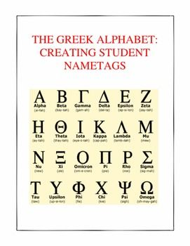 Writing Student Names With The Ancient Greek Alphabet Distance Learning Greek Alphabet Ancient Greek Alphabet Alphabet