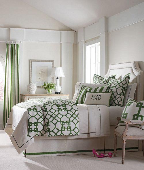 Green & White - Design - Bedroom
