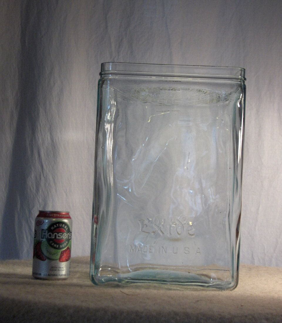 Antique Xlarge Exide Glass Battery Box By Yesterdayandtomorrow 140 00 Glass Antiques Antique Glass