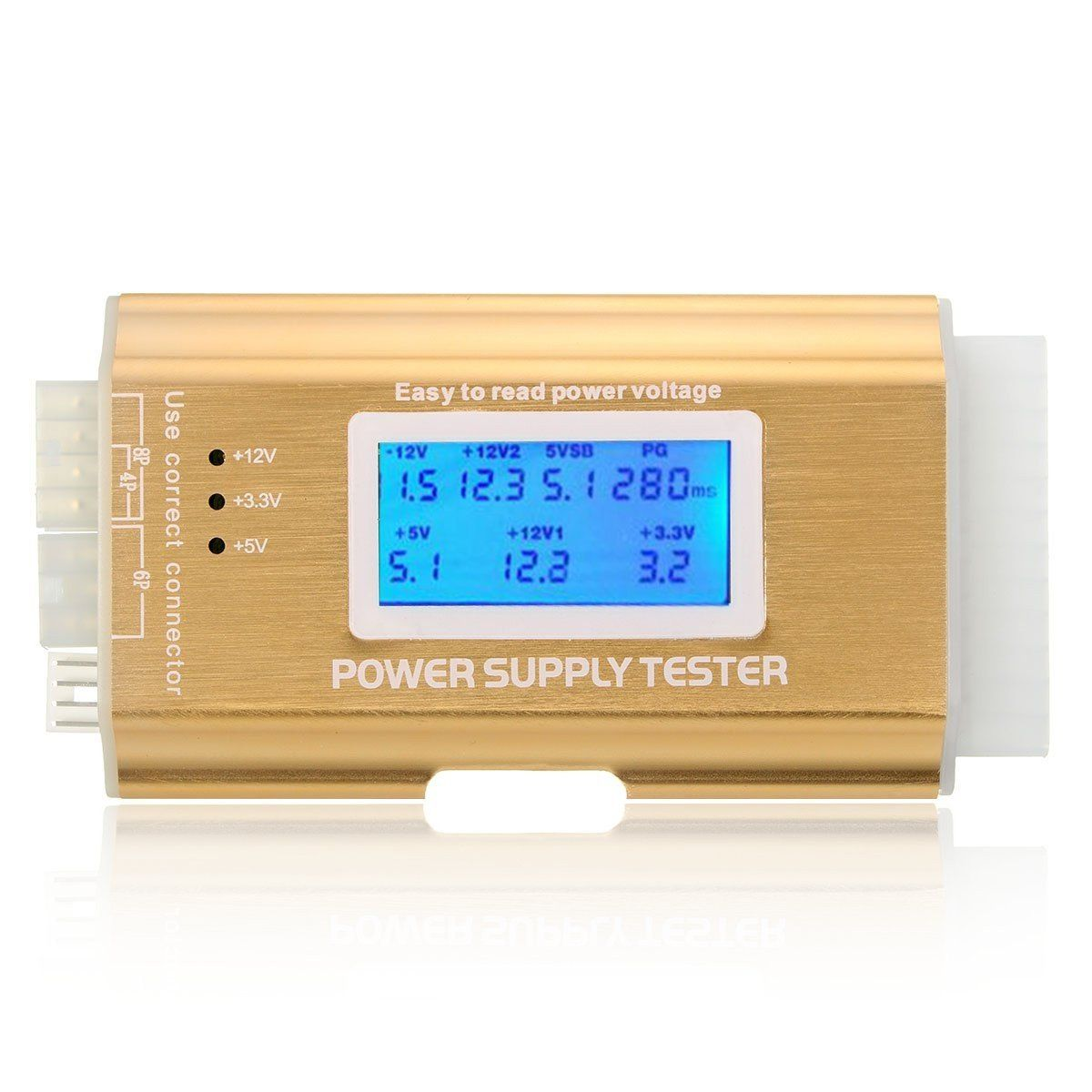 ATX BTX SODIAL ITX Power Supply Tester With LCD Display TM